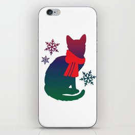 Winter Cat iPhone Skin