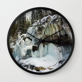 The Grotto Ice cave in Maligne Canyon Wall Clock