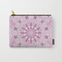 Delicate Lilac and Ultra Violet Floral Fantasy Mandala Carry-All Pouch