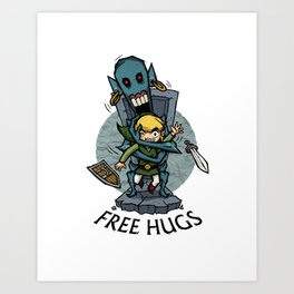 Legend of Zelda Wind Waker FREE HUGS T-Shirt Art Print