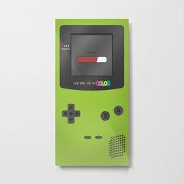 Gameboy Color (green) Metal Print