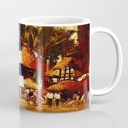 Sailboat At The Resort Coffee Mug