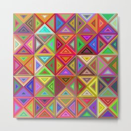 Happy triangle mosaic Metal Print