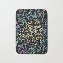 Your Word is a Lamp - Psalm 119:105 Bath Mat