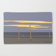 Beach volleyball poles Canvas Print