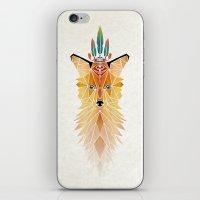 spirit iPhone & iPod Skins featuring fox spirit  by Manoou