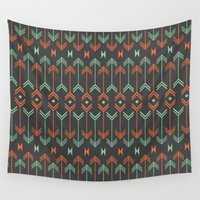 arrow Wall Tapestries featuring Arrow by Priscila Peress