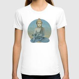 Buddha with dog4 T-shirt