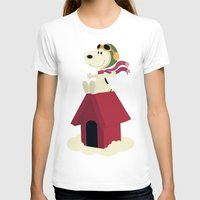 snoopy T-shirts featuring Snoopy - Red Baron by Ricardo A.