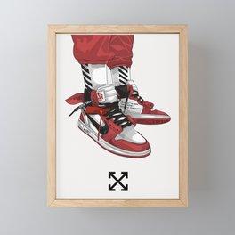Off White Jordan 1 Poster Framed Mini Art Print