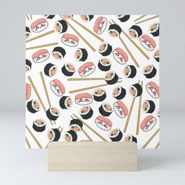 Sushi Sashimi Chopsticks Mini Art Print