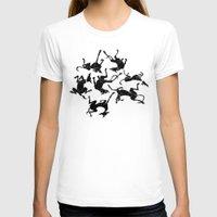 greyhound T-shirts featuring greyhound yoga by Matt Mawson