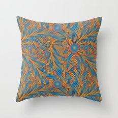 psychedelic Art Nouveau  Throw Pillow