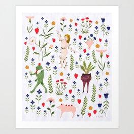 Jardin Mille-Fleurs Art Print