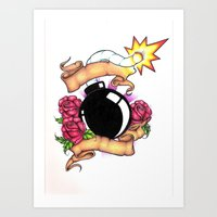 bombs away Art Prints featuring Bombs Away by 'Til Death Designs
