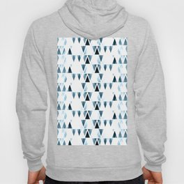 Icicles, abstract crystal pieces in light blue, geometric design in winter theme Hoody
