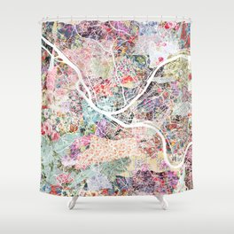 Pittsburgh map - Landscape Shower Curtain