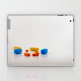 Colored medicines on a neutral background Laptop & iPad Skin