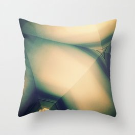 Abstractions in Cyan Throw Pillow
