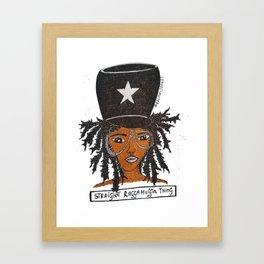 Miss Raggamuffin Framed Art Print