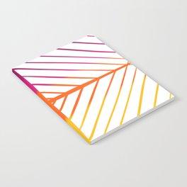 Sunset Gradient Lines Notebook