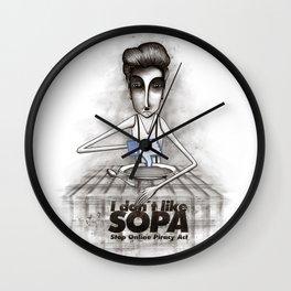 i don't like SOPA Wall Clock