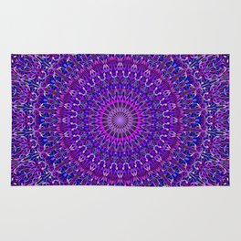 Lace Mandala in Purple and Blue Rug