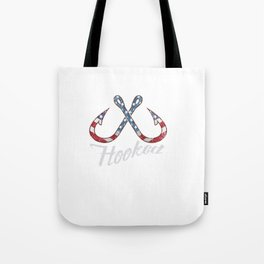 USA American Fisherman Fishing Hooks Tote Bag