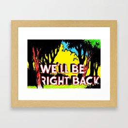 brb Framed Art Print