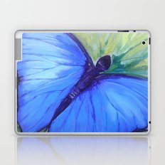 Blue Butterfly: Transfiguration Laptop & iPad Skin