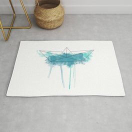 Origami splash Rug