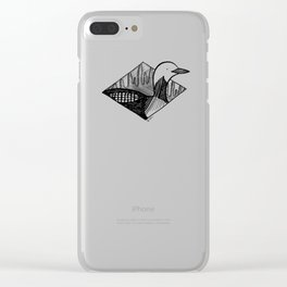 black-throated loon Clear iPhone Case