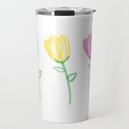 Bristle Brush Tulips Travel Mug