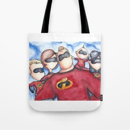 Family Portrait --- The Incredibles Tote Bag