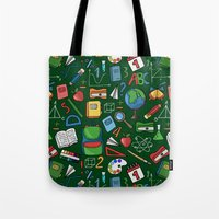 backpack Tote Bags featuring Back to school by Julia Badeeva