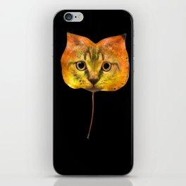 Autumn Cat-7 iPhone Skin