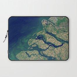 Rhine–Meuse–Scheldt delta Laptop Sleeve