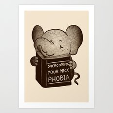 Elephant Overcoming Your Mice Phobia Art Print