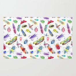 Colorful Bugs and Beetles Collection Rug