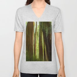 Redwood Abstract Unisex V-Neck