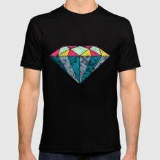 Diamond Geometric Black Mens Fitted Tee MEDIUM