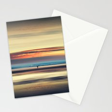 Along Memory Lines - Abstract Seascape Stationery Cards