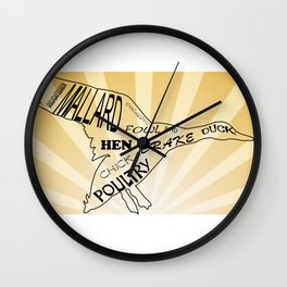 duck soup on tan sunray Wall Clock