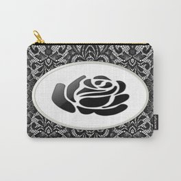 Laced Black Rose Carry-All Pouch