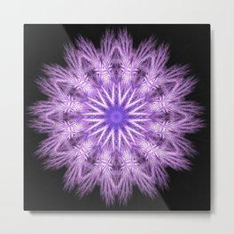 Fractal Violet Flower Metal Print