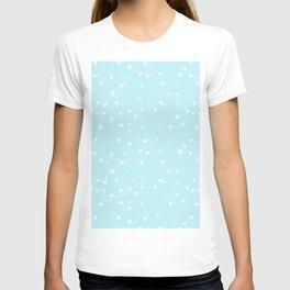 Merry Christmas- Teal Festive Stars X-Mas Pattern T-shirt
