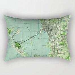 Vintage map of Sarasota Florida (1944) Rectangular Pillow