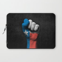 Texas Flag on a Raised Clenched Fist Laptop Sleeve