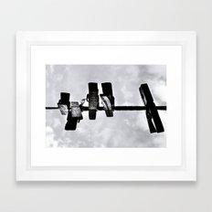 Ceu no varal Framed Art Print