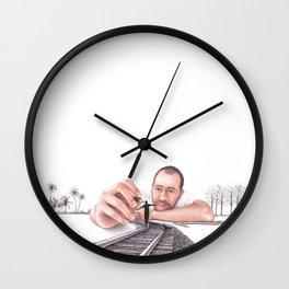 Balancing Act by Lars Furtwaengler | Colored Pencil | 2013 Wall Clock